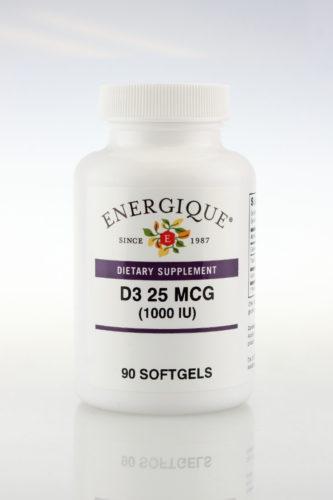 D3 25 MCG (1,000 IU) Soft Gel